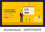 mock up design website flat... | Shutterstock .eps vector #1094703395