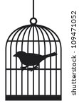 Silhouette Bird Cages