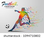 visual drawing soccer sport at... | Shutterstock .eps vector #1094710802