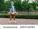 a small city boy and a... | Shutterstock . vector #1094710982