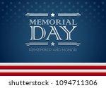 vector happy memorial day blue... | Shutterstock .eps vector #1094711306