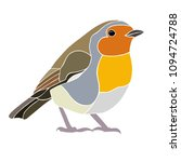 modern robin wildlife bird...   Shutterstock . vector #1094724788