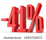 minus forty one percent.... | Shutterstock . vector #1094726072