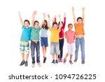 little kids isolated in white... | Shutterstock . vector #1094726225
