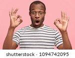 emotional surprised dark... | Shutterstock . vector #1094742095