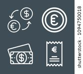 euro icon set   outline... | Shutterstock .eps vector #1094750018