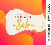 summer sale lettering concept... | Shutterstock .eps vector #1094751302