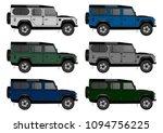 offroad truck template. vector... | Shutterstock .eps vector #1094756225