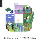 simple things   forest set on a ...   Shutterstock .eps vector #1094758496