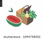 picnic image   flat cartoon... | Shutterstock .eps vector #1094758502