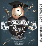 graduation party with chalk... | Shutterstock .eps vector #1094760905