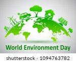 world environment day  ecology... | Shutterstock .eps vector #1094763782