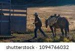 october 4  2017   cowboy puts... | Shutterstock . vector #1094766032