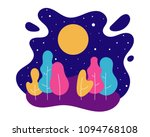 abstract floral summer... | Shutterstock .eps vector #1094768108