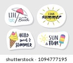 bright summer badges with funny ... | Shutterstock .eps vector #1094777195