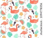 tropical seamless pattern  ... | Shutterstock .eps vector #1094778356