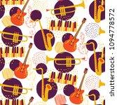 jazz seamless pattern   musical ... | Shutterstock .eps vector #1094778572