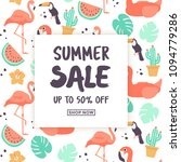 summer sale template design... | Shutterstock .eps vector #1094779286
