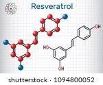 resveratrol molecule. it is... | Shutterstock .eps vector #1094800052