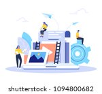 engaging content  blogging ... | Shutterstock .eps vector #1094800682
