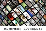 background of video wall with... | Shutterstock . vector #1094803358