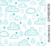 seamless vector pattern with... | Shutterstock .eps vector #1094804858