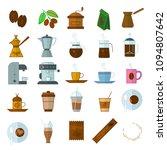 flat design vector coffe icon... | Shutterstock .eps vector #1094807642