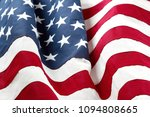 closeup of rippled american flag | Shutterstock . vector #1094808665