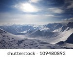 Snowy Mountains In Evening....
