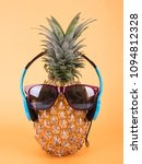 pineapple with sunglasses and... | Shutterstock . vector #1094812328