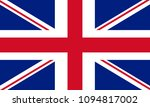 union jack. flag of united...   Shutterstock .eps vector #1094817002