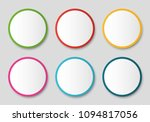 empty circle stickers... | Shutterstock .eps vector #1094817056