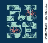 ride bicycle vintage typography ... | Shutterstock .eps vector #1094823662