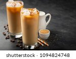 ice coffee in a tall glass with ... | Shutterstock . vector #1094824748