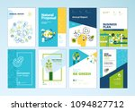 set of brochure and annual... | Shutterstock .eps vector #1094827712