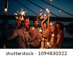 group of friends celebrating... | Shutterstock . vector #1094830322