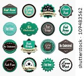 set of various fat free labels   Shutterstock .eps vector #109483562