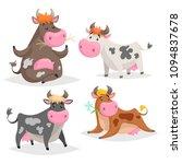 cute different cows set.... | Shutterstock .eps vector #1094837678