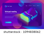 vr headset  virtual augmented... | Shutterstock .eps vector #1094838062