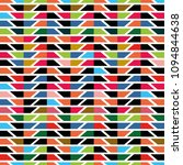 attern of colorful trapezoidal... | Shutterstock .eps vector #1094844638