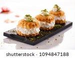 oriental arabic sweet warbat  | Shutterstock . vector #1094847188