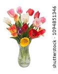 bouquet flowers tulips in a...   Shutterstock . vector #1094851346