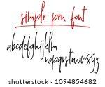 ballpen handwritten vector... | Shutterstock .eps vector #1094854682