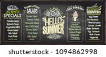 summer menu chalkboard design... | Shutterstock .eps vector #1094862998