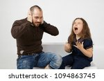 picture of shocked young... | Shutterstock . vector #1094863745