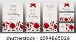 wedding invitation card... | Shutterstock .eps vector #1094865026