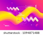 creative design 3d flow shape.... | Shutterstock .eps vector #1094871488