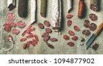 variety of spanish or italian... | Shutterstock . vector #1094877902