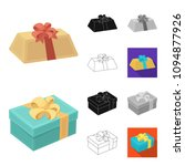 gift and packing cartoon black... | Shutterstock .eps vector #1094877926