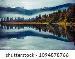landscape reflection of lake... | Shutterstock . vector #1094878766